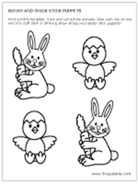 bunny amp puppets printable templates amp coloring