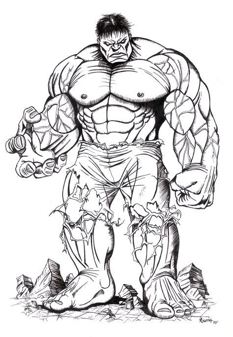 Imagenes En Blanco Y Negro De Hulk   hulk by estudiopintarte on deviantart
