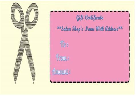 21 printable salon gift certificate templates to attract