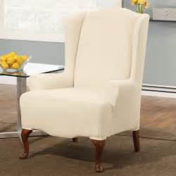 Sure fit slipcovers stretch pinstripe wing chair slipcover atg stores