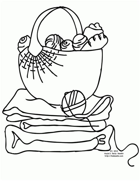 coloring book yarns yarn printable clipart clipart suggest
