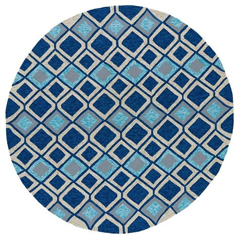 Kaleen Home And Porch Moroccan Blue 5 Ft 9 In Indoor 5 Foot Area Rugs