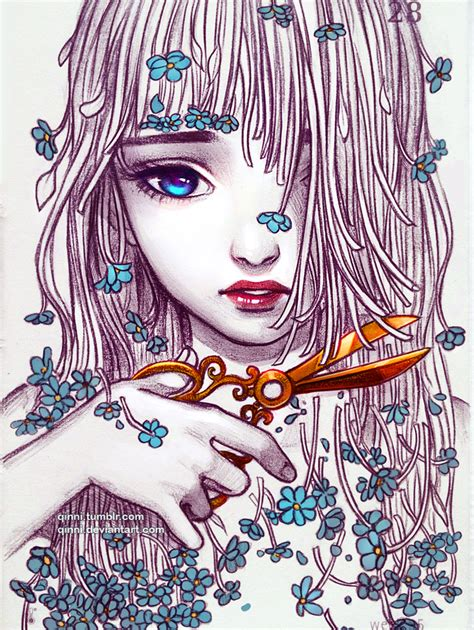 qinni sketchbook forget me not by qinni on deviantart