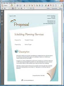 Business Proposal Letter Template Free Download Wedding Planner Services Sample Proposal