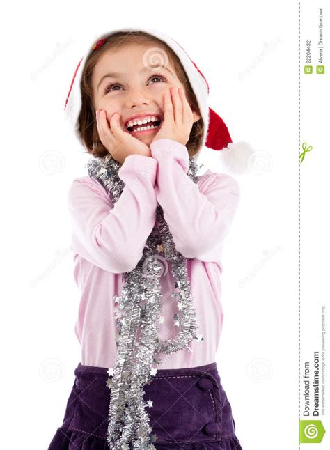 excited  girl   stock photo image