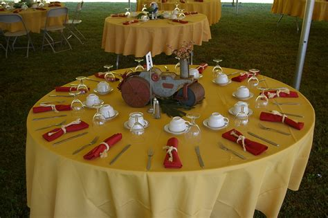 table setting for buffet style buffet style table with unique centerpiece using childrens toys set on table and rope napkin