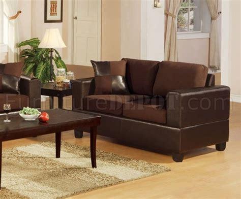 Microfiber Living Room Set F7591 Chocolote Microfiber Living Room Set By Poundex