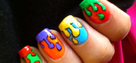 how to do dripping paint pop art nails 171 nails amp manicure