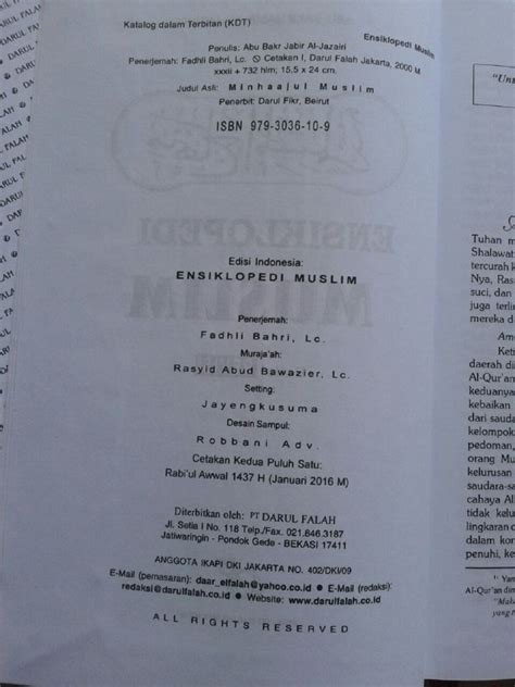 Buku Ensiklopedi Muslim Minhajul Muslim buku ensiklopedi muslim minhajul muslim