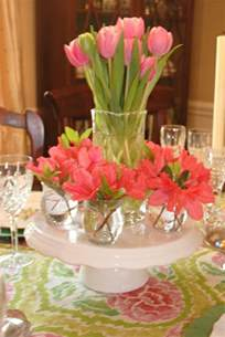 Wine Glasses For Centerpieces by Table Decorations With Tulips Festive Table Decorations