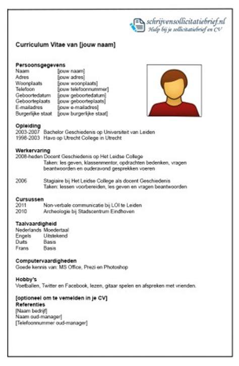 Sjabloon Cv Jobstudent Hoe Kan Ik Mijn Cv Opstellen Hoewatwaarom
