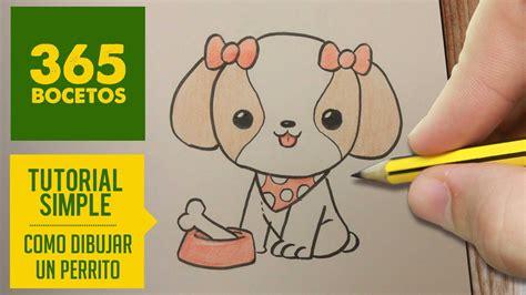 imagenes de dibujos kawaii a lapiz como dibujar perritos kawaii paso a paso dibujos kawaii