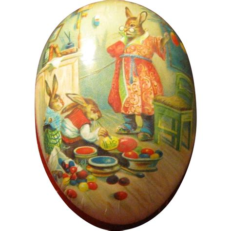 Large Paper Mach 233 Easter - large 6 quot size paper mache erzgebirge easter egg from