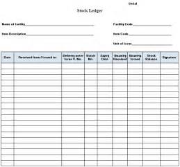 stock ledger template inventory templates free inventory