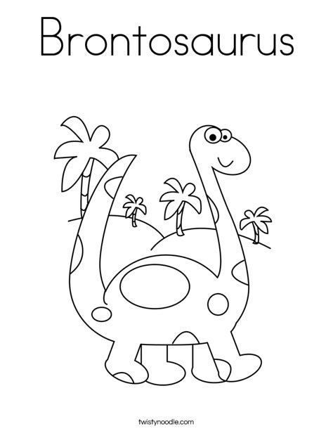 Coloring Pages Twisty Noodle Brontosaurus Coloring Page Twisty Noodle by Coloring Pages Twisty Noodle