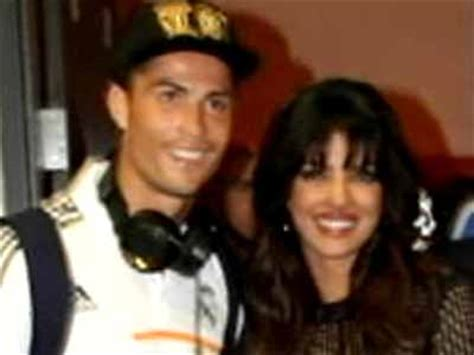 priyanka chopra meets cristiano ronaldo priyanka s wild night out with footballer ronaldo ndtv