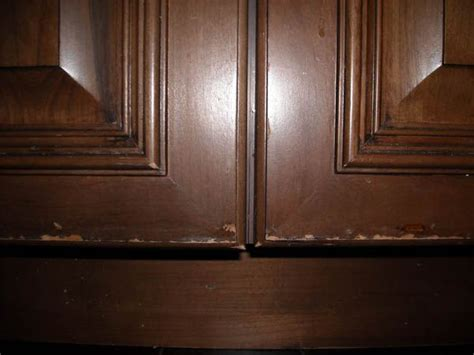 fixing kitchen cabinets cabinet door finish failure diagnosis and repair