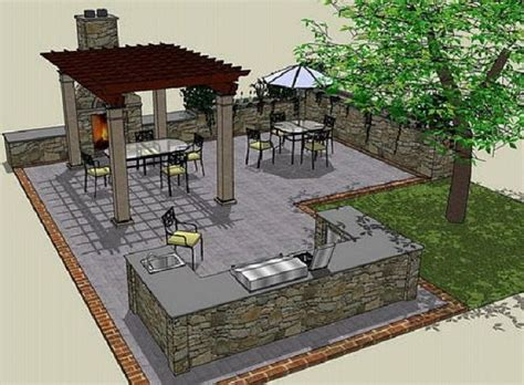 outdoor cooking area plans outdoor kitchen ideas drawing plans http lanewstalk