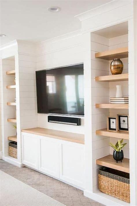 amazing living room designs  floating shelves