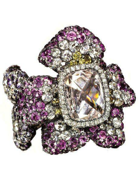 Dparis Violet Ring a violet shaped amethyst and ring jar