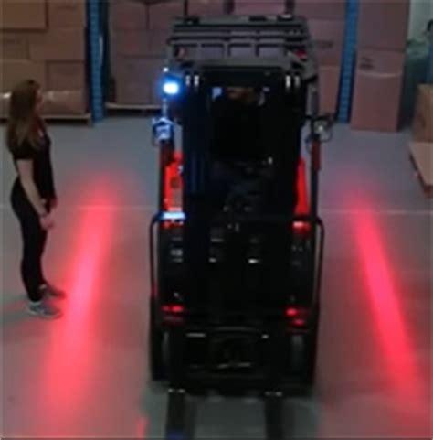 Behind The Red Curtain Forklift Side Warning Lights Led Or Laser Lift Truck