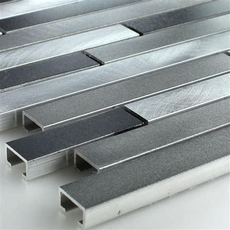 metall fliesen aluminium alu metall mosaik fliesen schwarz silber mix