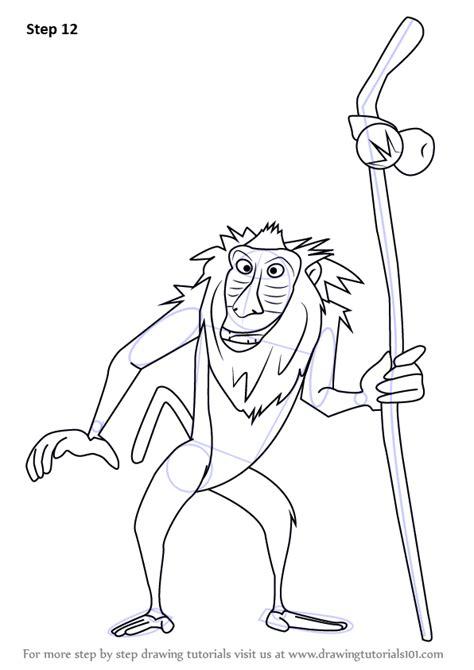 step  step   draw rafiki   lion king drawingtutorialscom