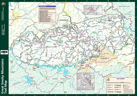 great smoky mountains national park map smoky mountains map