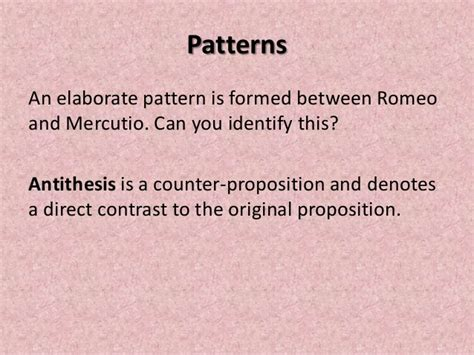 pattern of language in romeo and juliet powerpoint of activities