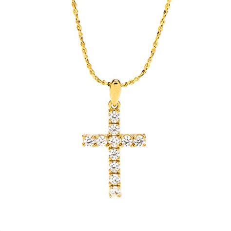 Liontin Zircon Premium Look Like A cross necklace cubic zirconia pendant 24k gold premium
