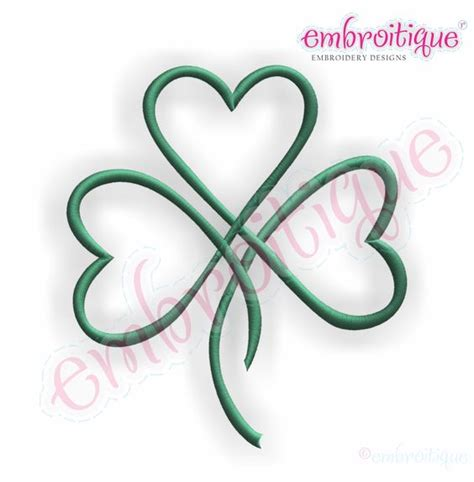 three hearts tattoo designs shamrock hearts shamrock satin stitch outline