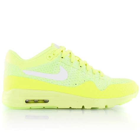 Sneakers Nike Air Max 1 Flyknit Volt nike w air max 1 ultra flyknit volt white electric green bei kickz