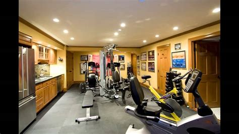 home gym decorations basement home gym design decorating ideas youtube