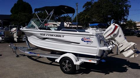 new aluminium boats for sale qld new quintrex 450 fishabout power boats boats online for