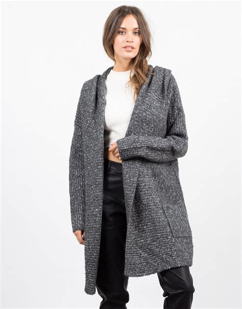chunky knit hooded cardigan chunky hooded cardigan knit cardigan womens outerwear