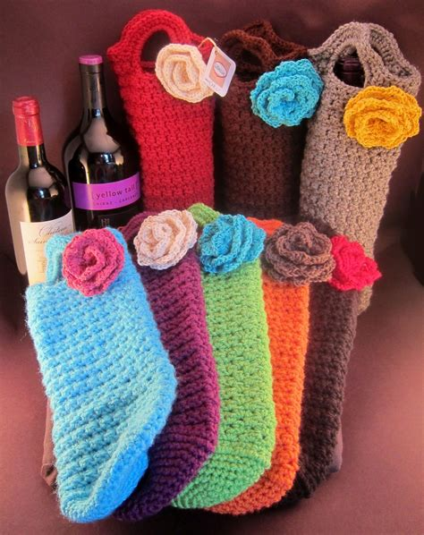 crochet pattern wine bottle bag free pattern this is one of the cutest presents you