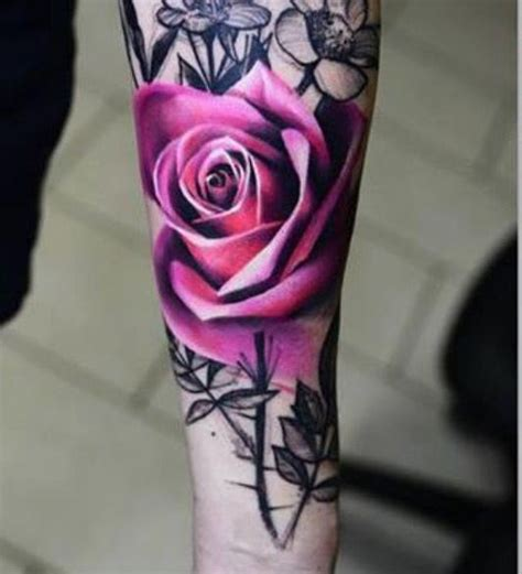 rose tattoos in color 25 best ideas about pink tattoos on