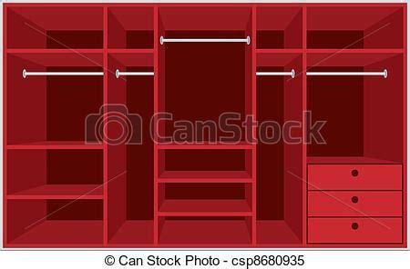 guardarropa habitacion clipart vectorial de guardarropa habitaci 243 n muebles
