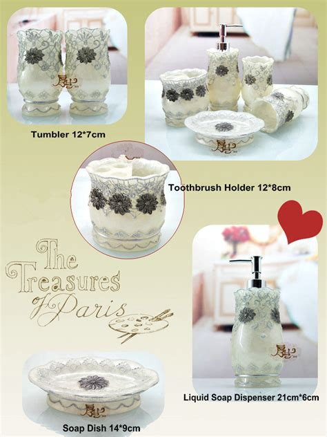 Bathroom Accessories Rates 5 Pieces Bathroom Accessories Set With Carving Flowers