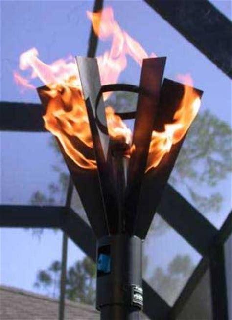 backyard torch fin style gas tiki torch outdoor fire designs