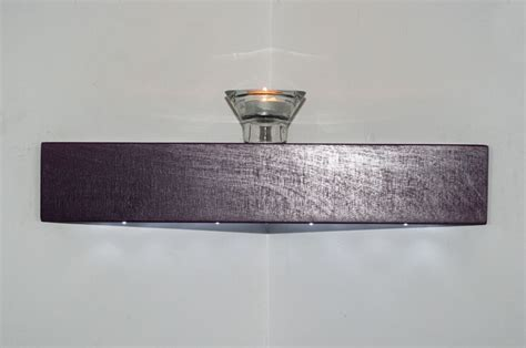 Floating Shelves With Lights by Floating Corner Shelf Purple Handmade Wooden Wall Shelves