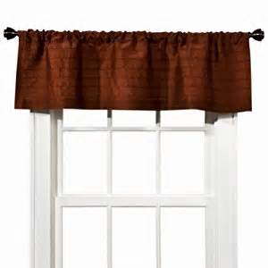 Rust Colored Kitchen Curtains Home Faux Silk Rust Window Valance Pretty Curtain Topper Window Treatment Valances