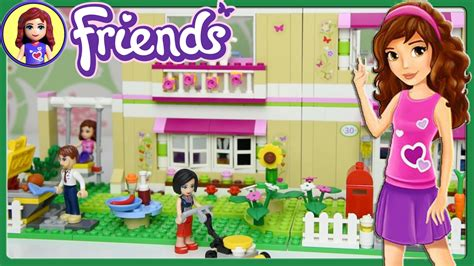 lego friends olivia s house lego friends olivia s house set building review play kids toys youtube