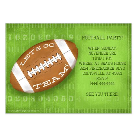 Football Invitation Template by Football Invitation Template Invitation Template