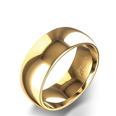 Wedding Band 8mm by Low Curve 8mm Wedding Band In 14k Yellow Gold
