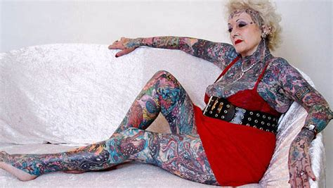 full body tattoo old woman old people with different tattoos with pictures new