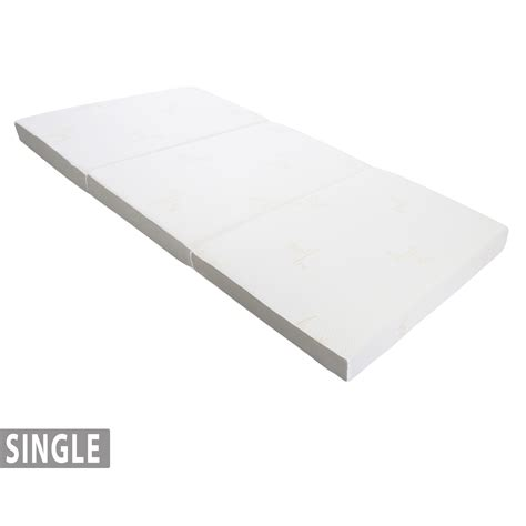single tri fold sofa bed foldable foam mattress the cover is removable and can