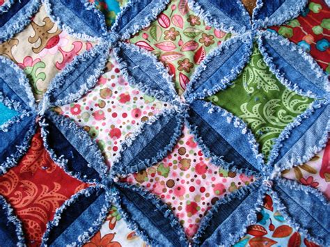 Denim Rag Quilt Pattern by A Quilter Finished The Denim Quilt