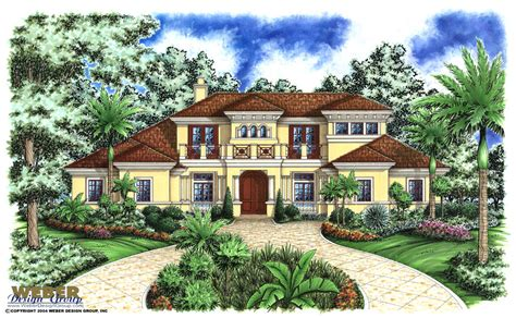 weber design group home plans mediterranean island house plan stock floor plan