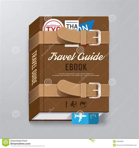 guide book layout book cover travel guide design luggage concept template